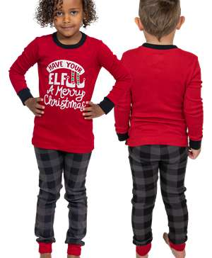 Have Your Elf A Merry Christmas Kid's Long Sleeve Christmas PJ's