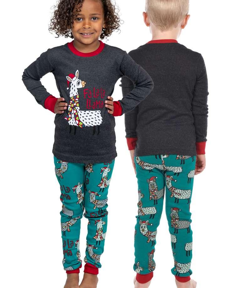 Fa La La Llama Kid's Long Sleeve PJ's