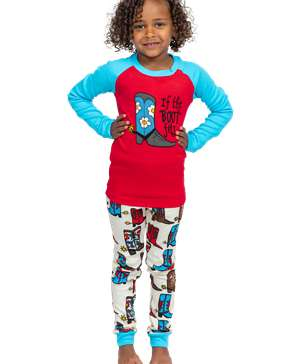 If The Boot Fits Kid's Long Sleeve Girl PJ's