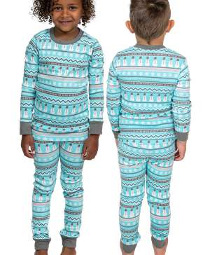 Nordic Snowman Kid's Long Sleeve PJ's