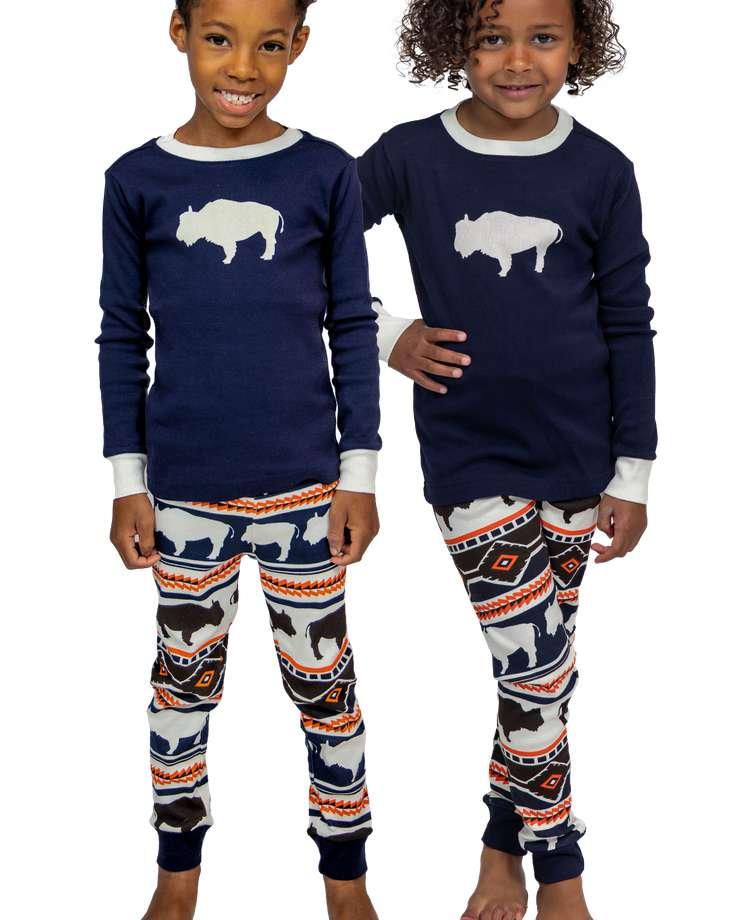 Buffalo Fair Isle Kid's Long Sleeve PJ's
