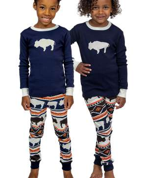 Buffalo Fair Isle Kid's Long Sleeve PJ's