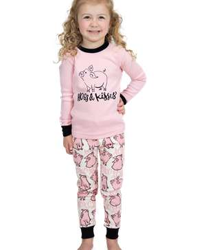 Hogs & Kisses Kid's Long Sleeve PJ's