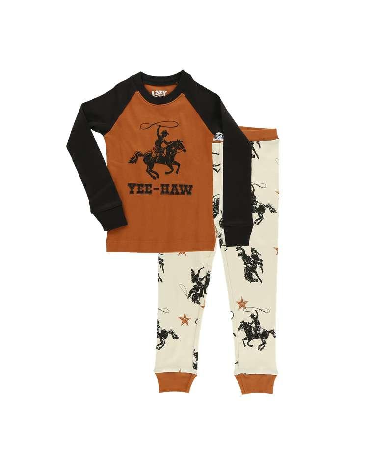 Yee-Haw Kid's Long Sleeve Cowboy PJ's