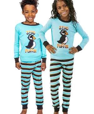 Stud Puffin Kid's Long Sleeve PJ's