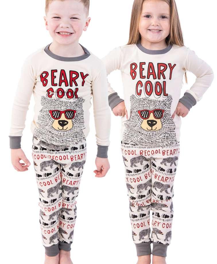 Beary Cool Kid's Long Sleeve PJ's