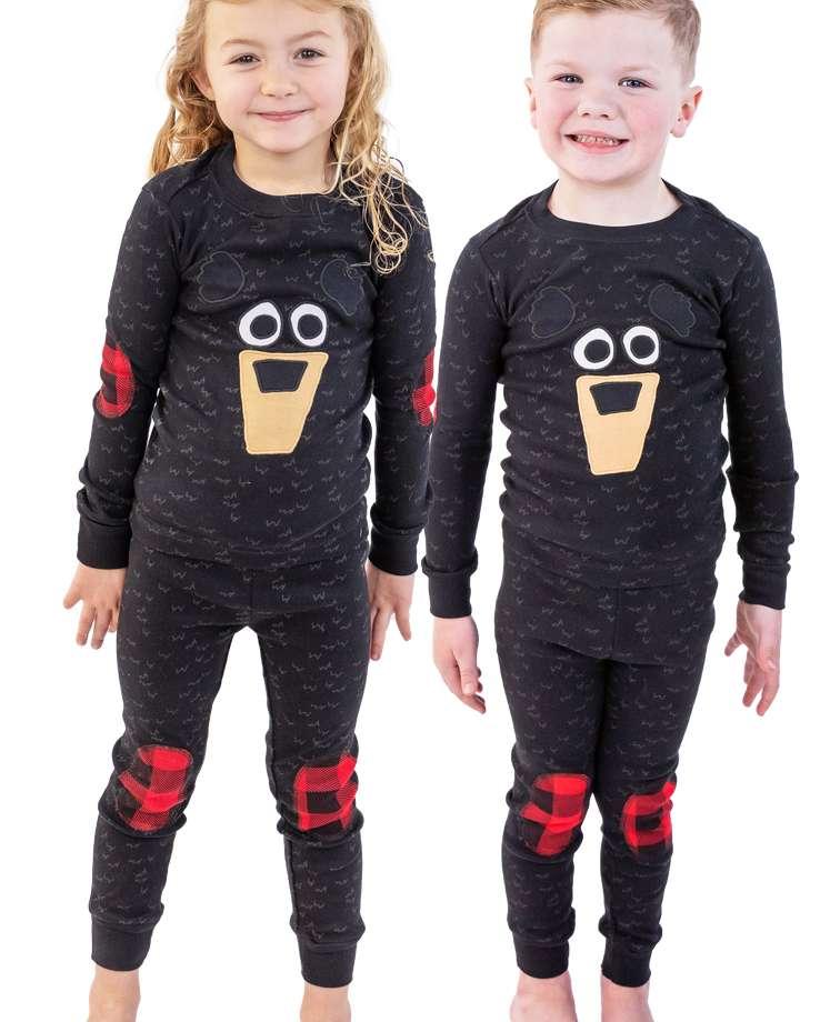 Black Bear Kid's Long Sleeve PJ's