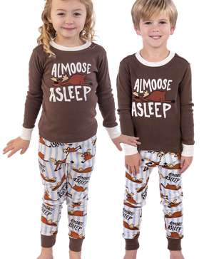 Almoose Asleep Kid's Long Sleeve PJ's