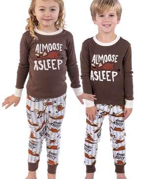 Almoose Asleep Kid's Long Sleeve PJ's