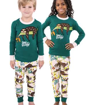 Stay Sleepy Long Sleeve Kid's Sloth PJ's
