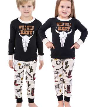 Wild Wild Rest Kid's Long Sleeve Western PJ's