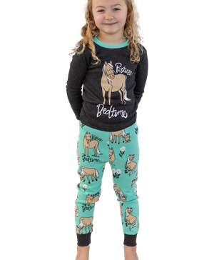 Pasture Bedtime Mint Horse PJ Set