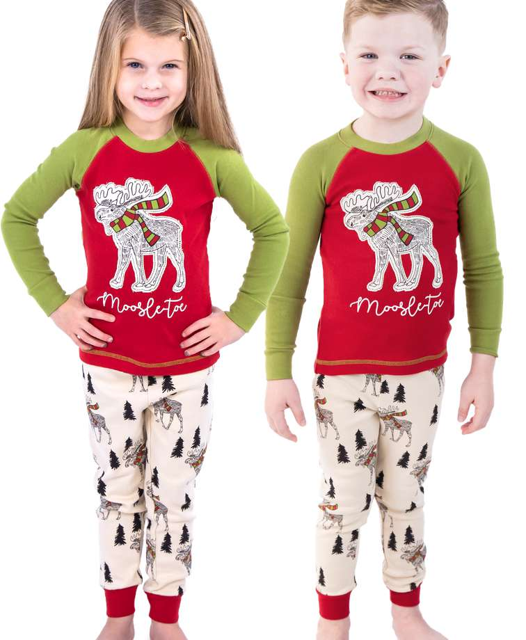 Moosletoe Kid's Long Sleeve PJ's