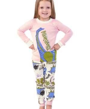 Dinosnore Pink Kid's Long Sleeve PJ's
