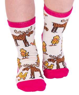 Duck Duck Moose Pink Kid Sock