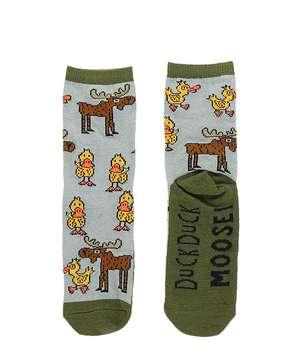 Duck Duck Moose Grey Kid Sock