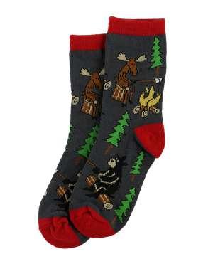 Happy Camper Kid Sock
