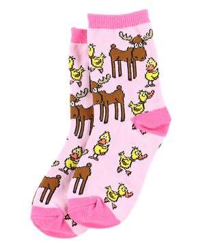 Pink Duck Duck Moose Socks For Kids