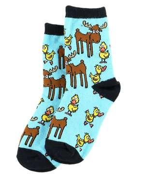 Duck Duck Moose Boy Kid Sock