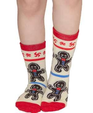 Sweet Cheeks Gingerbread Kid Sock