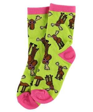 Don't Moose Pink Kid Sock