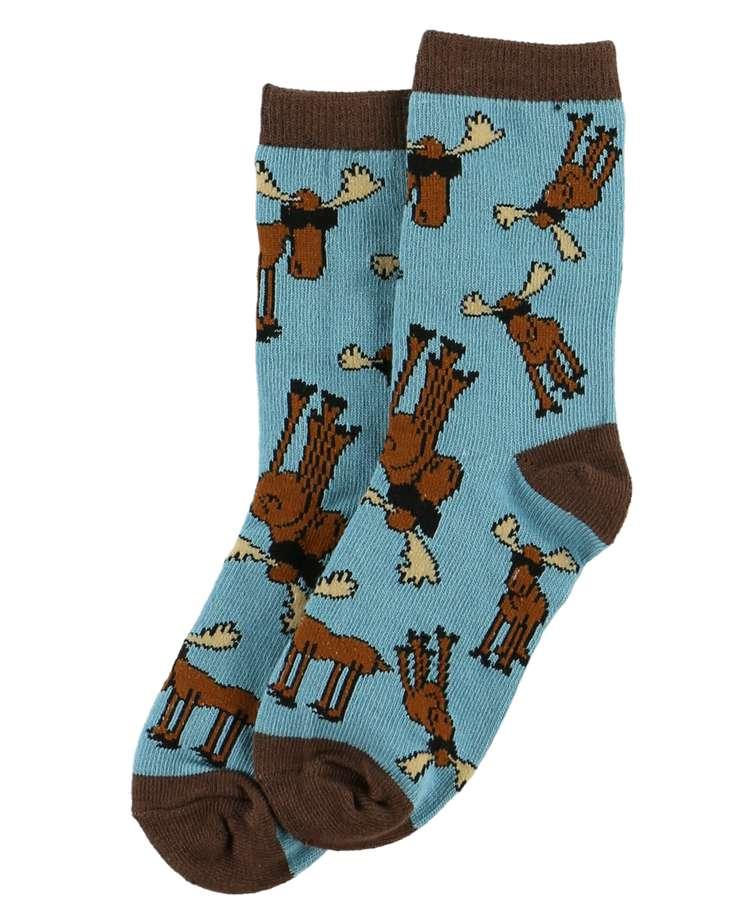 Don't Moose Blue Kid Sock