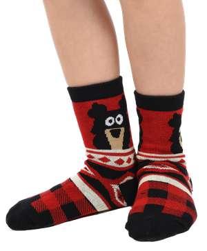 Cabin Bear Kid Sock