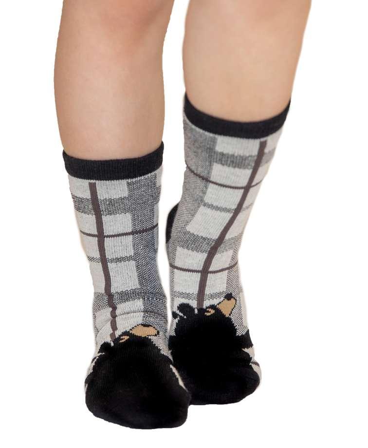 Bear Hug Grey Kid Sock