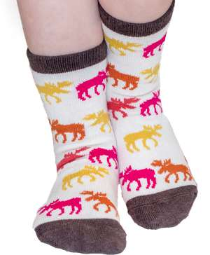 Don't Moose With Me Pink Kid Sock