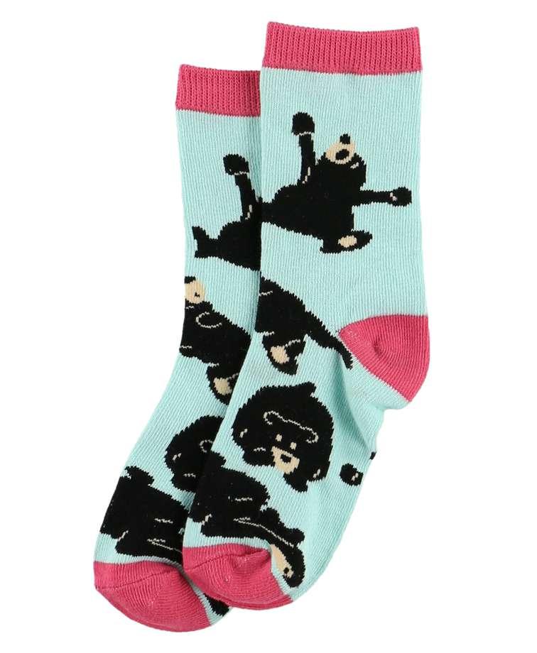 Bearly Awake Blue Kid Crew Sock