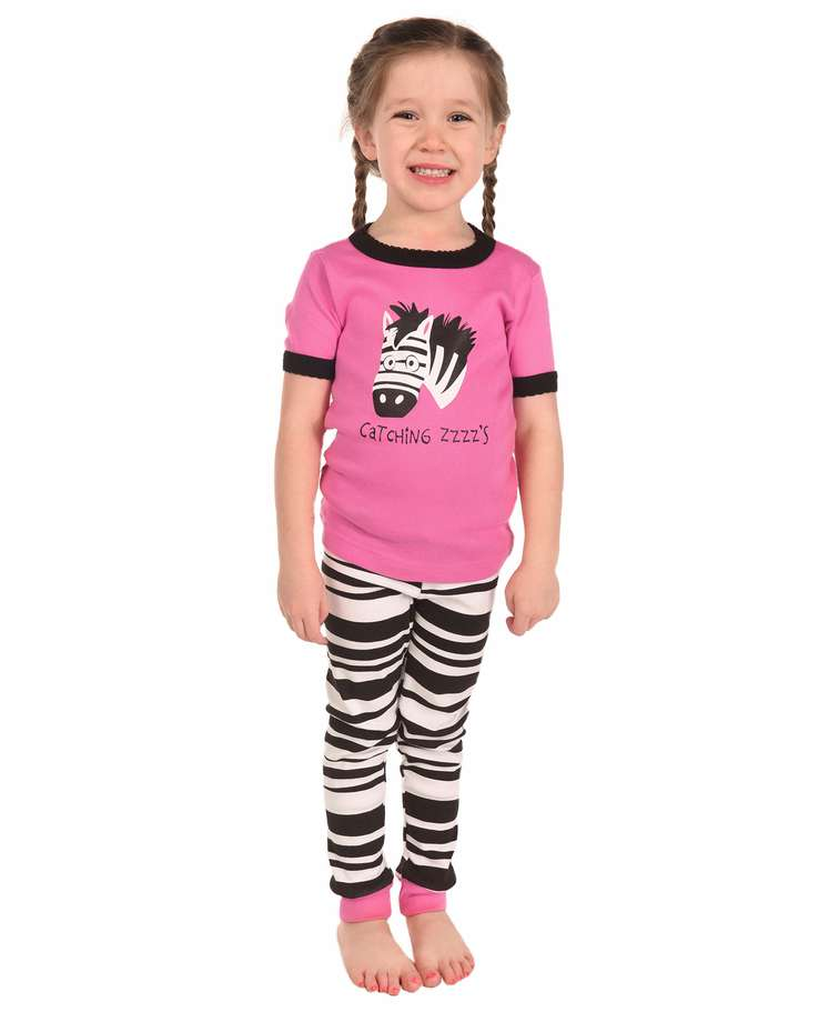 Catching Some ZZZ's Zebra Kid's Short Sleeve PJ's