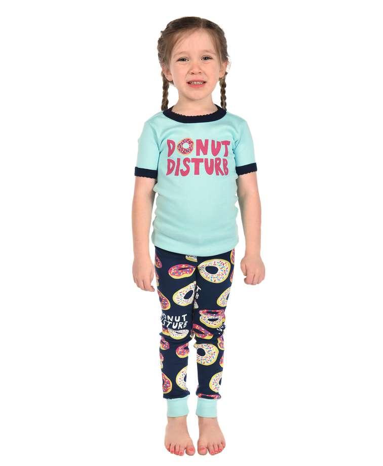 Donut Disturb Kid's Short Sleeve PJ's