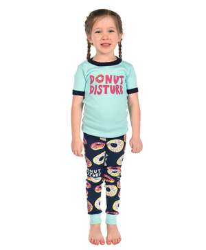 Donut Disturb Kid's Short Sleeve PJ's