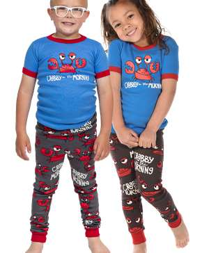 Crabby In The Morning Kids Short Sleeve PJ's
