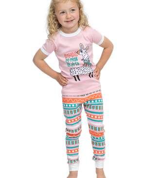 No Prob Llama Kid's Short Sleeve PJ's