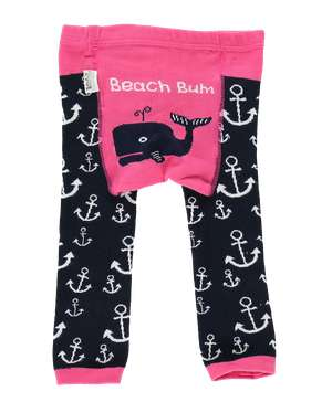 Beach Bum Infant Whale Leggings