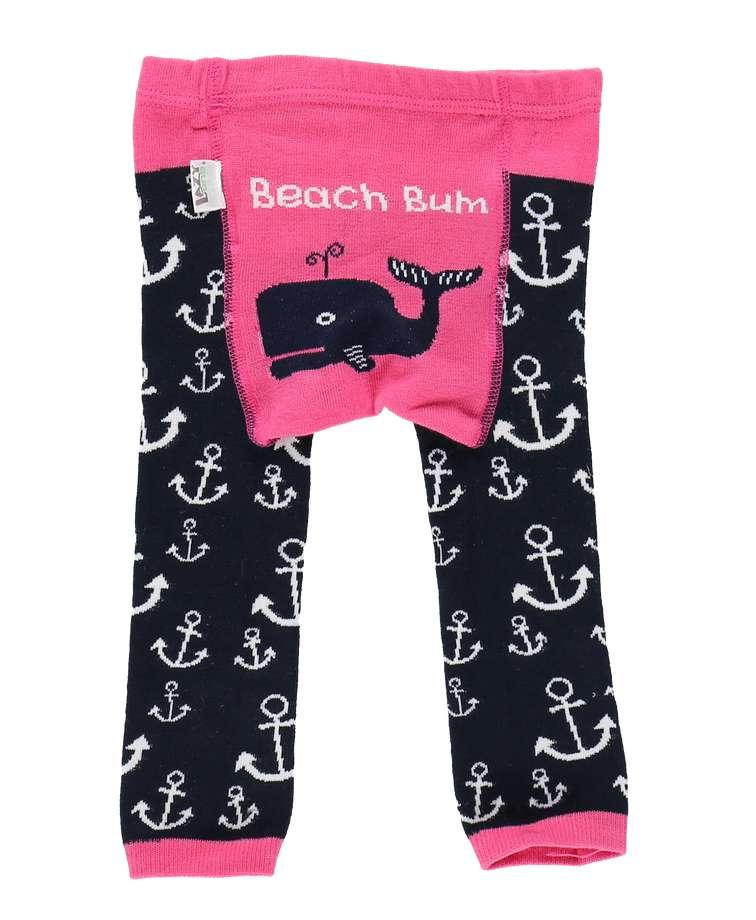 Beach Bum Infant Whale Leggings