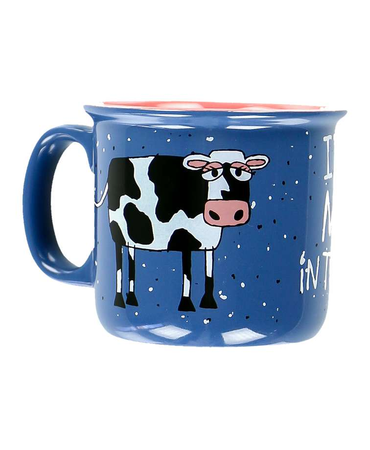 Mooody in the Morning Cow Mug