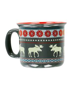 Moose Fair Isle Ceramic Mug
