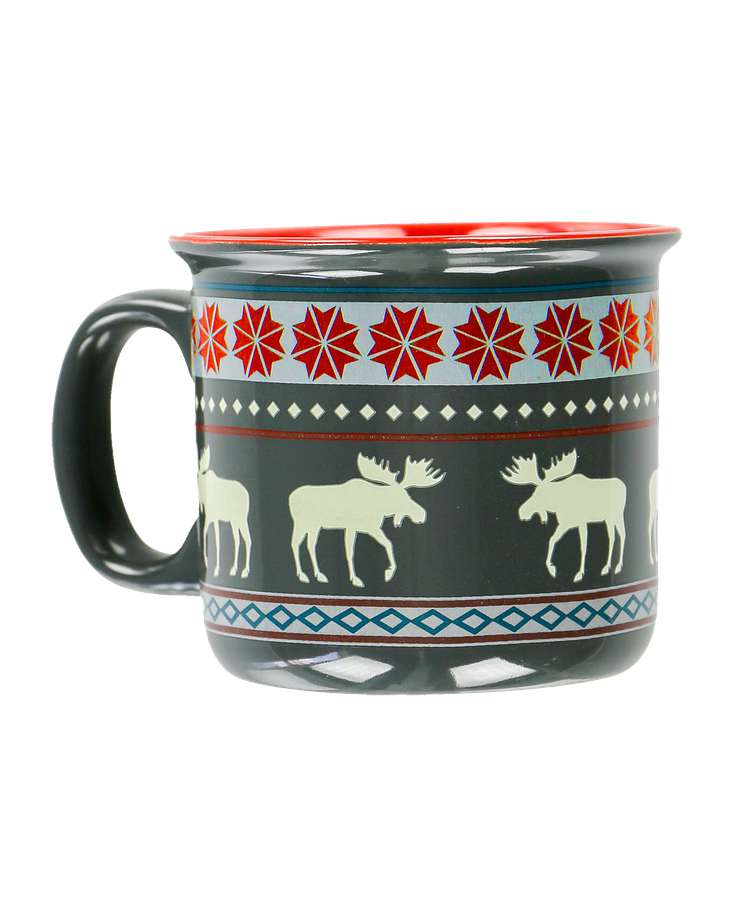 Moose Fair Isle Ceramic Mug