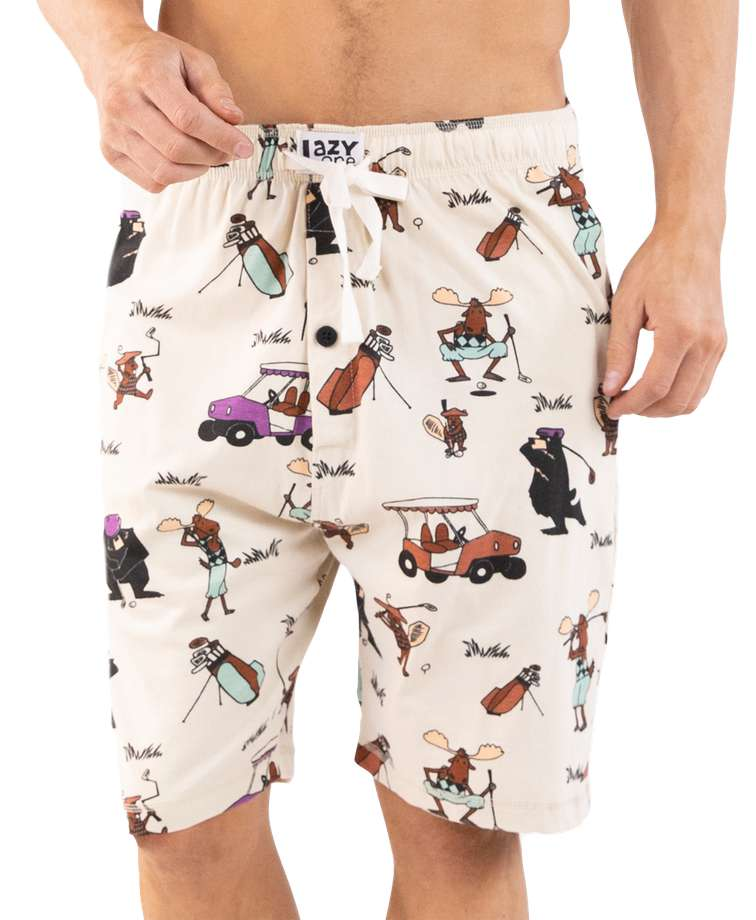 Golfing Men's Pajama Shorts