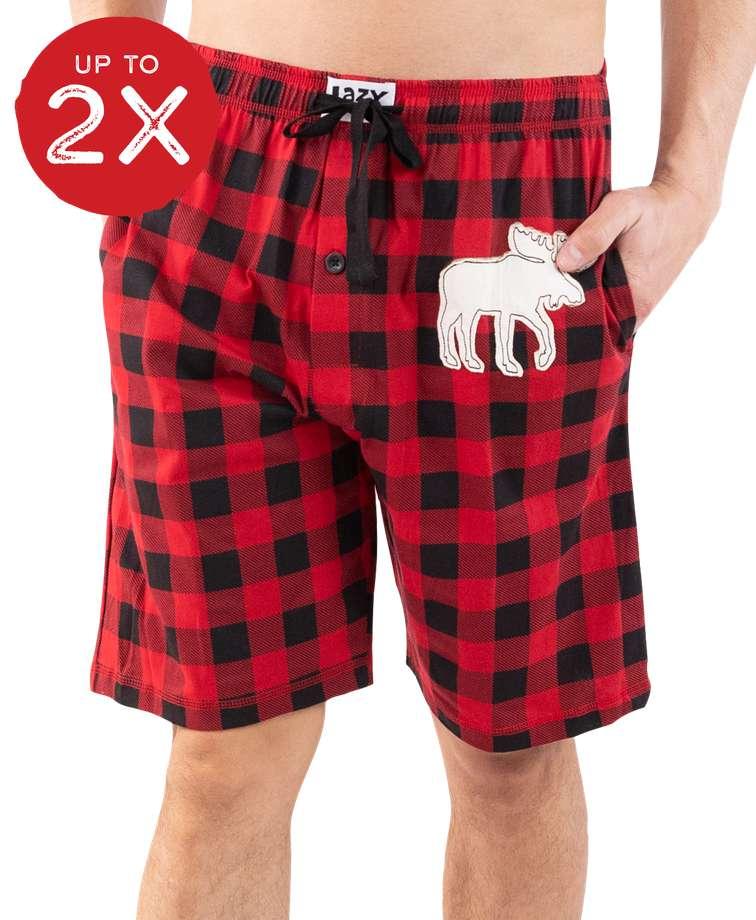 Moose Plaid Men's Pajama Shorts