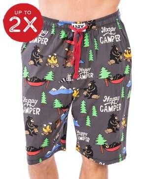 Happy Camper Men's Pajama Shorts