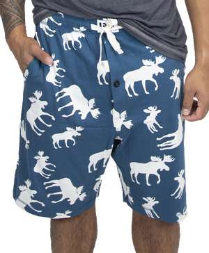 Blue Classic Moose Men's Pajama Shorts