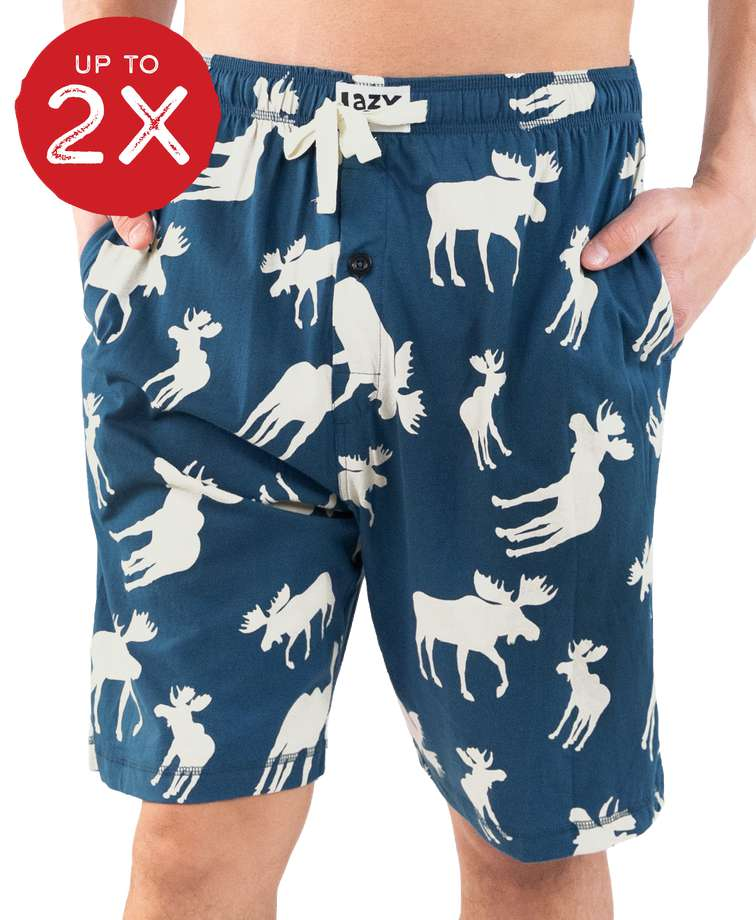 Blue Classic Moose Men's Pajama Shorts