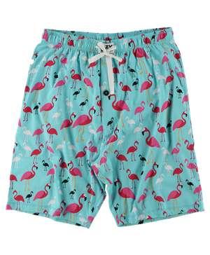 Flamingos Men's Pajama Shorts