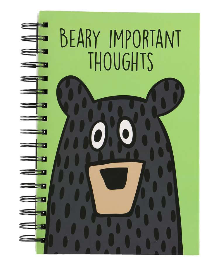 Beary Important Thoughts Notebook