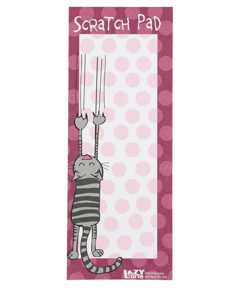 Cat Scratch Pad Notepad