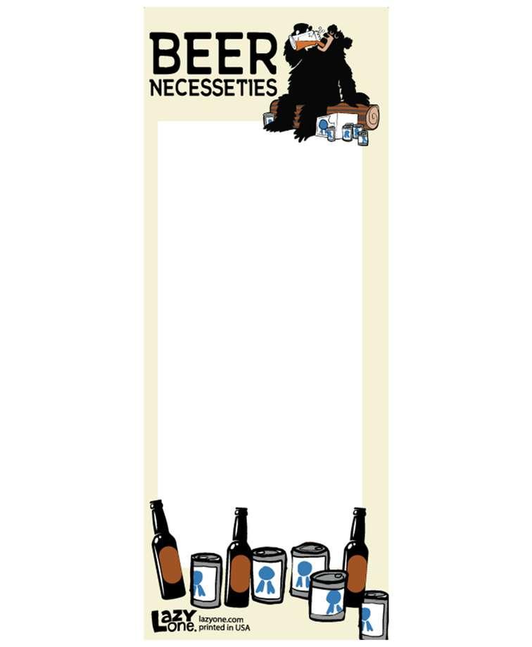 Beer Necessities Notepad