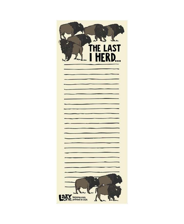 Last I Herd Notepad